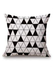 Triangle Geometric Printed Pillow Case
