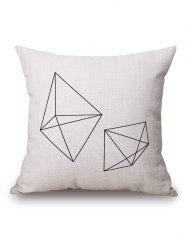 Geometric Cube Printed Pillow Case