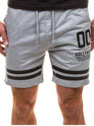 Graphic Stripe Print Running Shorts