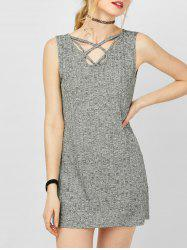 Mini Criss Casual Jersey Knit Tank Dress