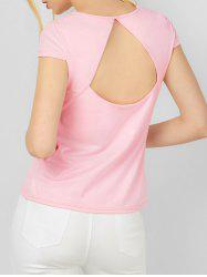 Cap Sleeve Cut Out Tee