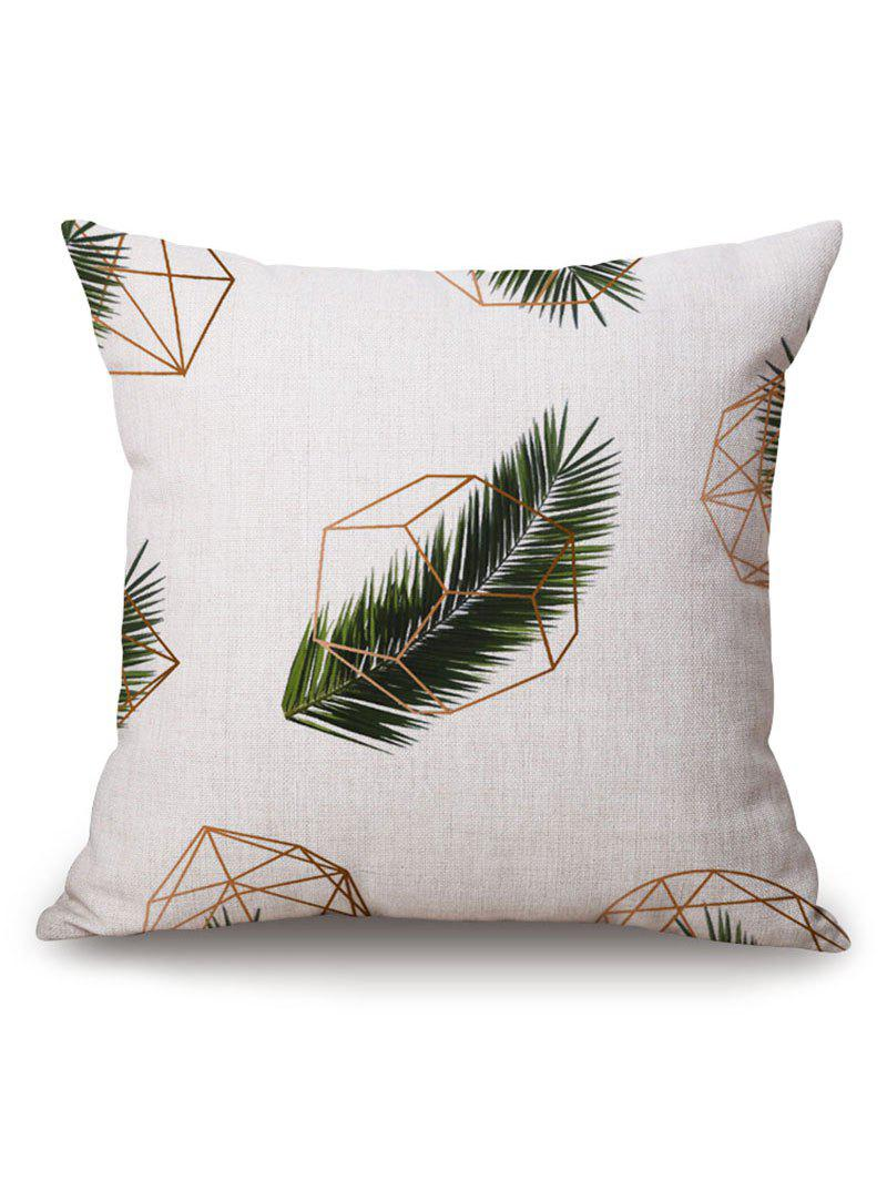 Outfit Geometric Leaf Printed Pillow Case