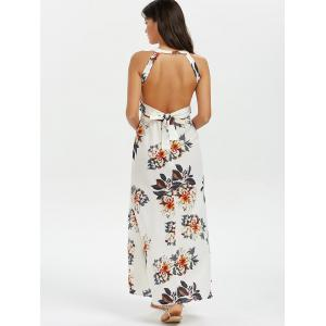 Backless Floral Slit Maxi Swing Dress -