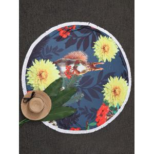 Throw Tassel Floral Cercle Plage