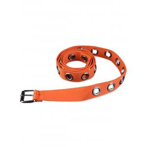 Round Grommet Casual Canvas Belt -