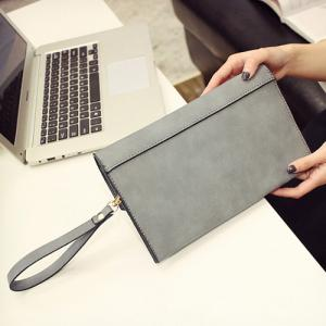 Metal Detail Clutch Bag with Chains -