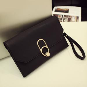 Metal Detail Clutch Bag with Chains