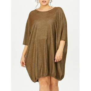 Plus Size Oversized Dolman Sleeve Baggy Tee Dress