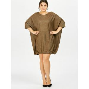 Plus Size Oversized Dolman Sleeve Baggy Tee Dress -