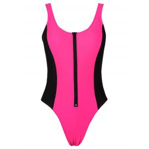 High Cut Sporty Swimwear - Rose Madder - L