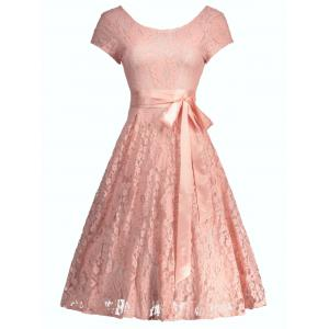 Floral Wedding Party A Line Lace Cocktail Dress