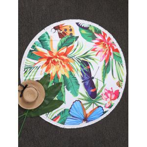 Tassel Floral and Butterfly Beach Throw