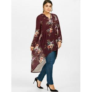 Chiffon Floral Plus Size Top -
