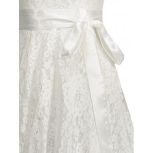 Floral Wedding A Line Lace Cocktail Dress - WHITE 2XL