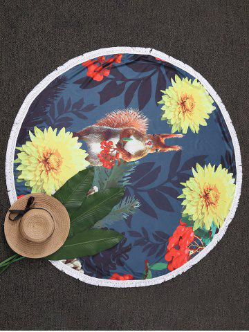 Affordable Tassel Floral Circle Beach Throw COLORMIX ONE SIZE