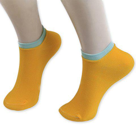 Outfits Knitted Breathable Ankle Socks ORANGE YELLOW