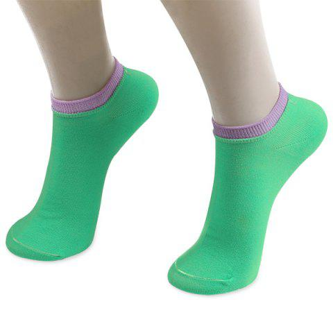 Unique Knitted Breathable Ankle Socks GREEN