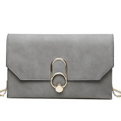 Affordable Metal Detail Clutch Bag with Chains