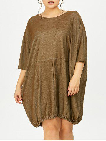 Fashion Plus Size Oversized Dolman Sleeve Baggy Tee Dress