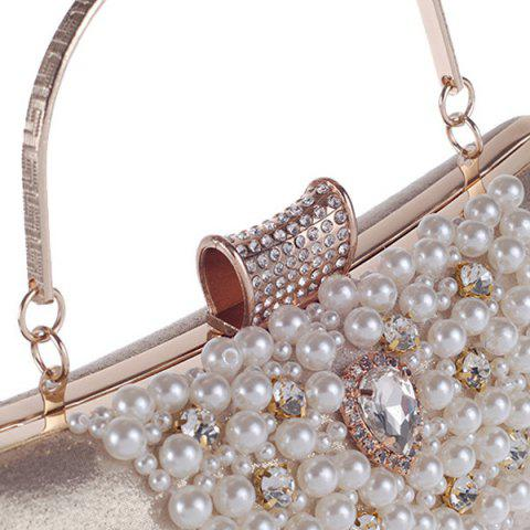 Affordable Rhinestone Beaded Evening Bag - GOLDEN  Mobile