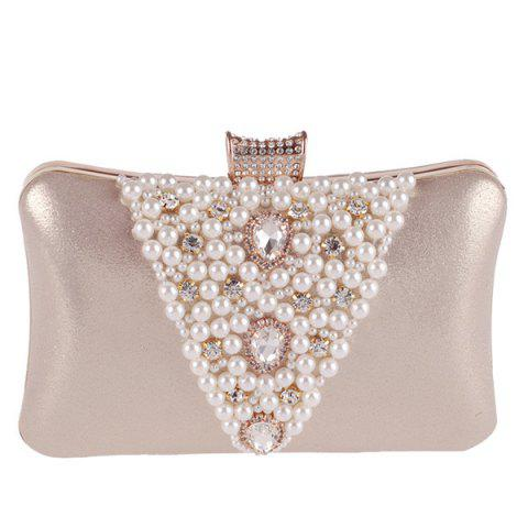 Buy Rhinestone Beaded Evening Bag - GOLDEN  Mobile