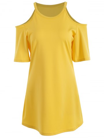 Store Cold Shoulder Mini Tunic A LineDress