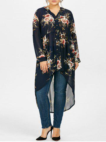 Outfits Chiffon Floral Plus Size Top