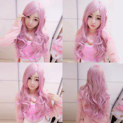 Harajuku Long Wavy Side Bang Cosplay Lolita Synthetic Wig - GRADUAL PINK