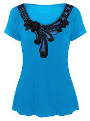 Plus Size Applique T-Shirt