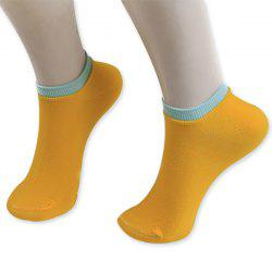 Knitted Breathable Ankle Socks - ORANGE YELLOW