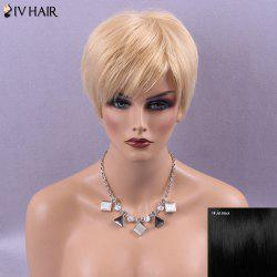 Siv Hair Short Natural Straight Sided Bang Human Hair Wig