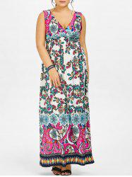 Print Maxi Plus Size Dress