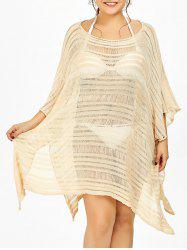 Batwing Sleeve Plus Size Sheer Cover Ups for Swimsuits