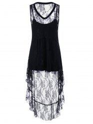 High Low Hem Lace Top and Camisole