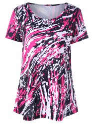 Plus Size Graphic Longline Tee