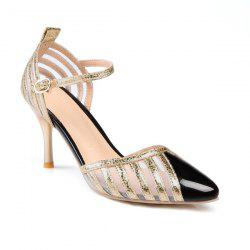 Mesh Stiletto Heel Pumps