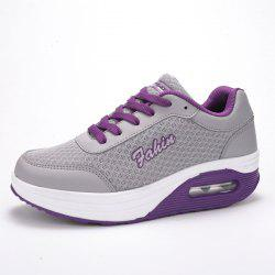 Mesh Colour Block Breathable Athletic Shoes