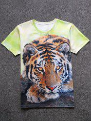 Tiger Print Short Sleeve Tee