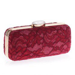 Metal Trim Lace Evening Bag