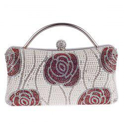 Flower Pattern Beaded Bags - WHITE