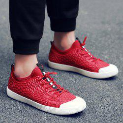 Stretch Fabric Geometric Pattern Casual Shoes