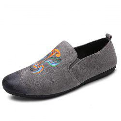 Beijing Opera Facial Makeup Suede Casual Shoes