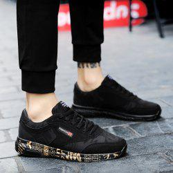 Letter Printed Suede Casual Shoes