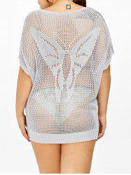 Butterfly Sheer Plus Size Crochet Cover-Up