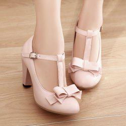 Cone Heel Bow Pumps