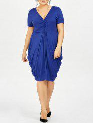 Plus Size Drape Side Empire Waist Dress