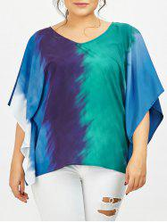 Butterfly Sleeve Tie Dye Plus Size T-Shirt