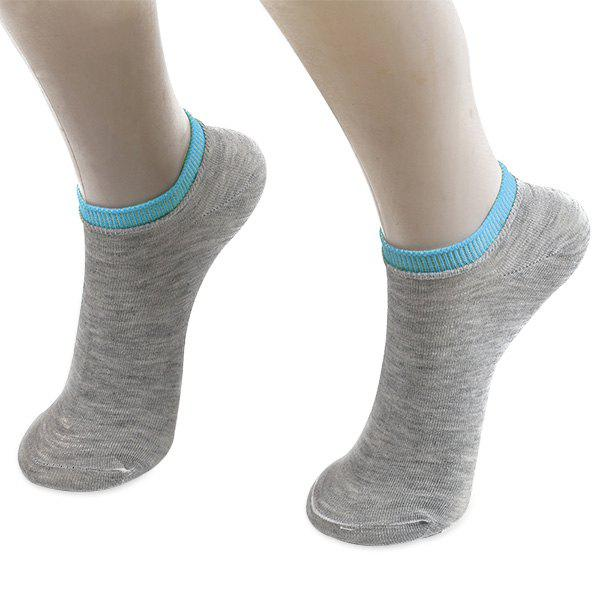 Knitted Breathable Ankle SocksACCESSORIES<br><br>Color: GRAY; Type: Socks; Group: Adult; Gender: For Women; Style: Fashion; Pattern Type: Solid; Material: Polyester; Length(CM): 17CM; Width(CM): 7.8CM; Weight: 0.0200kg; Package Contents: 1 x Socks(Pair);