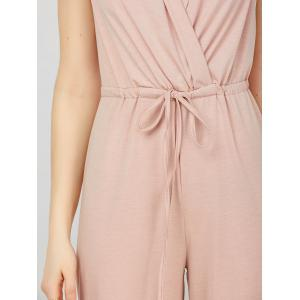 Surplice Jumpsuit with Drawstring Waist -
