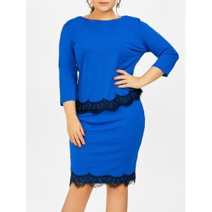 Plus Size Two Piece Fitted Bodycon Dress